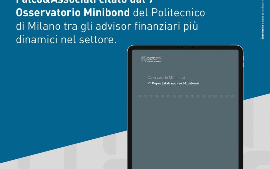 Per il terzo anno consecutivo siamo all'interno dell'Osservatorio Italiano sui Minibond
